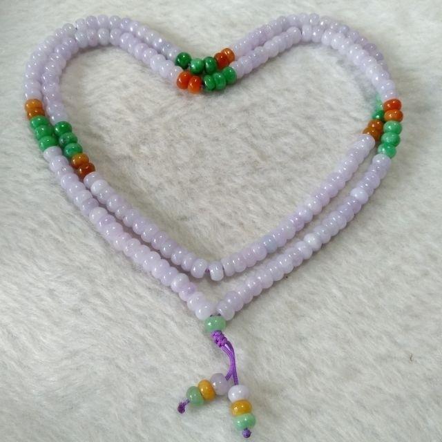 🔮毛衣鏈🔮天然緬甸玉A貨翡翠-5.6mm 紫蘿蘭 三彩 算盤珠 毛衣鏈