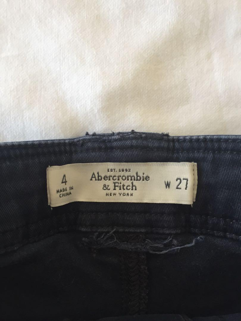 Abercrombie & Fitch High Waisted Navy Military Shorts 4/W27