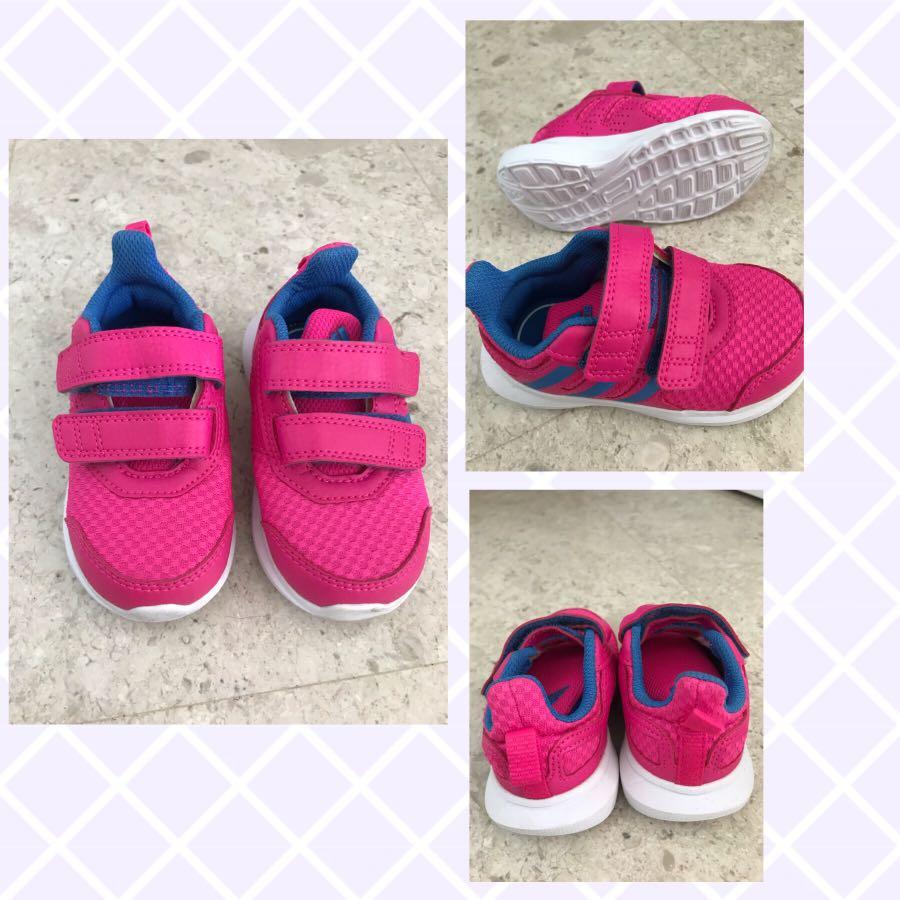 Adidas hot pink rubber shoes for girls, Babies \u0026 Kids, Girls