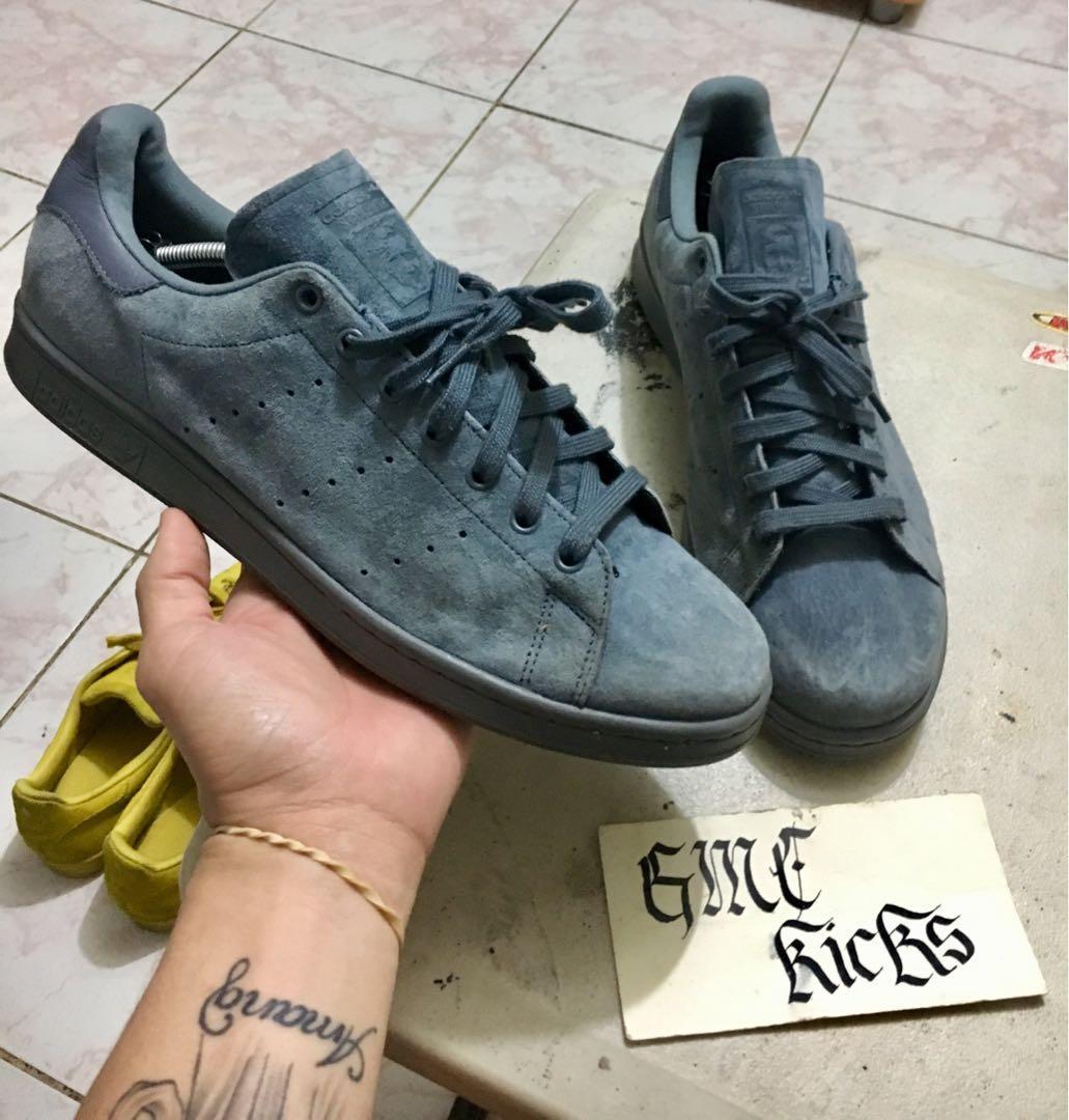 Adidas stan smith onyx gray suede sz13