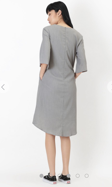 1bfc78ff892531 AFA Clara Midi Dress in Suit Grey, Women's Fashion, Clothes, Dresses ...