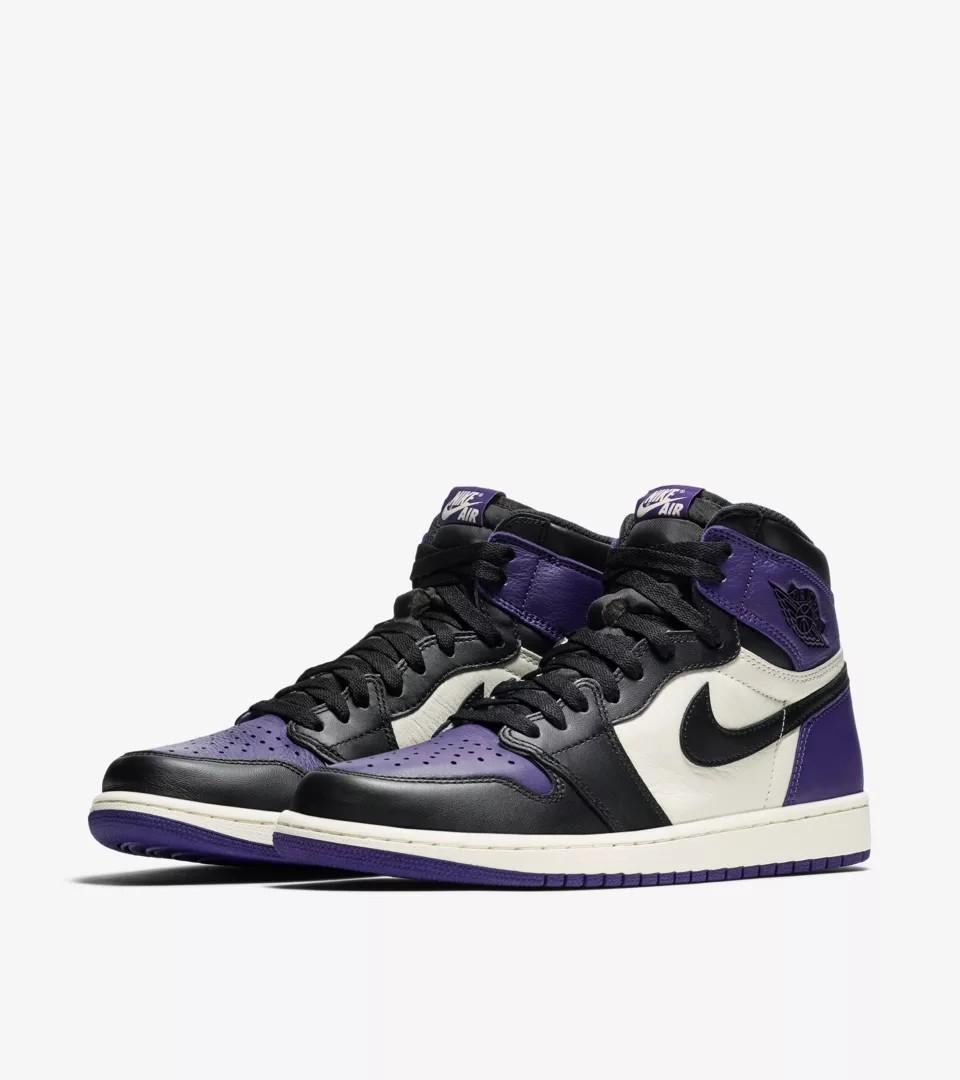 c83148cb79b Air Jordan 1 Court Purple, Men's Fashion, Footwear, Sneakers on ...