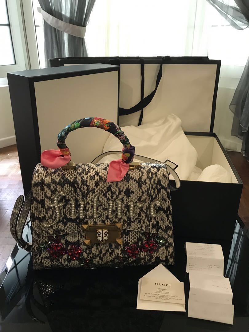18009e3c19 Authentic NEW GUCCI Osiride Future Snakeskin bag, Women's Fashion ...