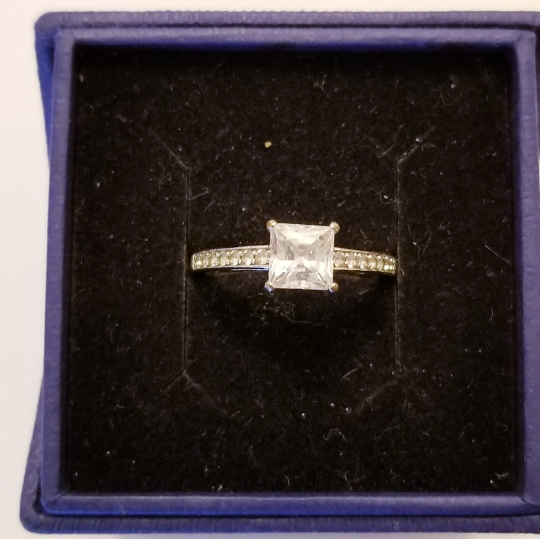Authentic Swarovski Square Cut Ring size 8