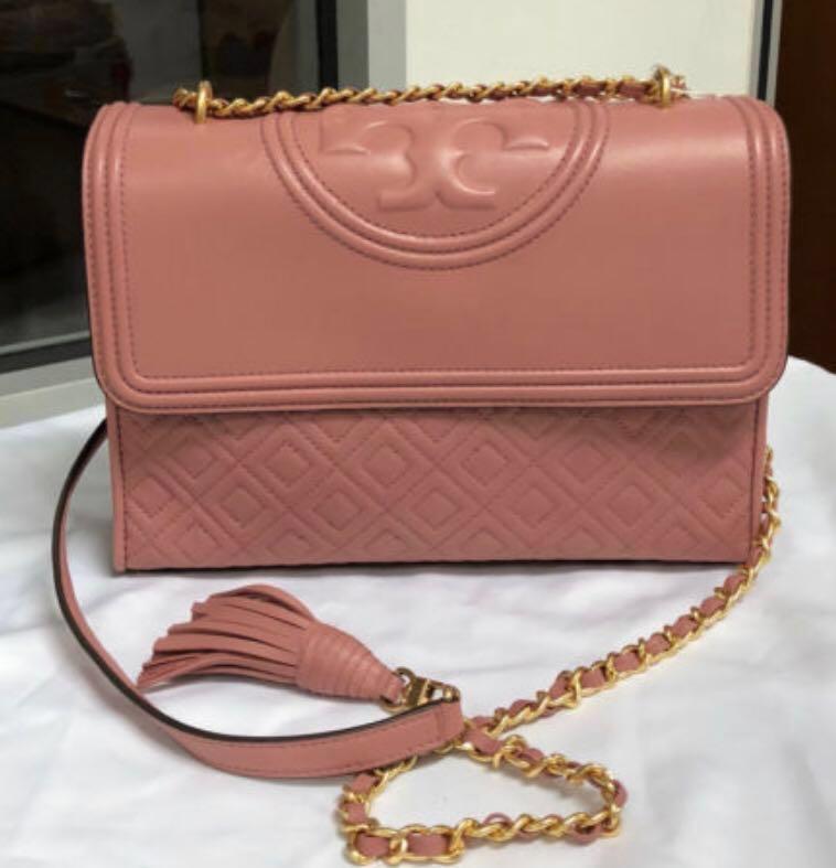 03592cc72dde Authentic Tory Burch Fleming Pink Bag