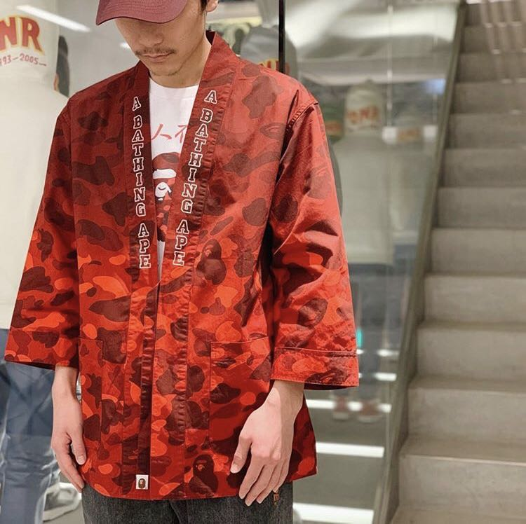 2c9ec0fe BAPE COLOR CAMO GRADATION KIMONO SHIRT, Men's Fashion, Clothes, Tops ...