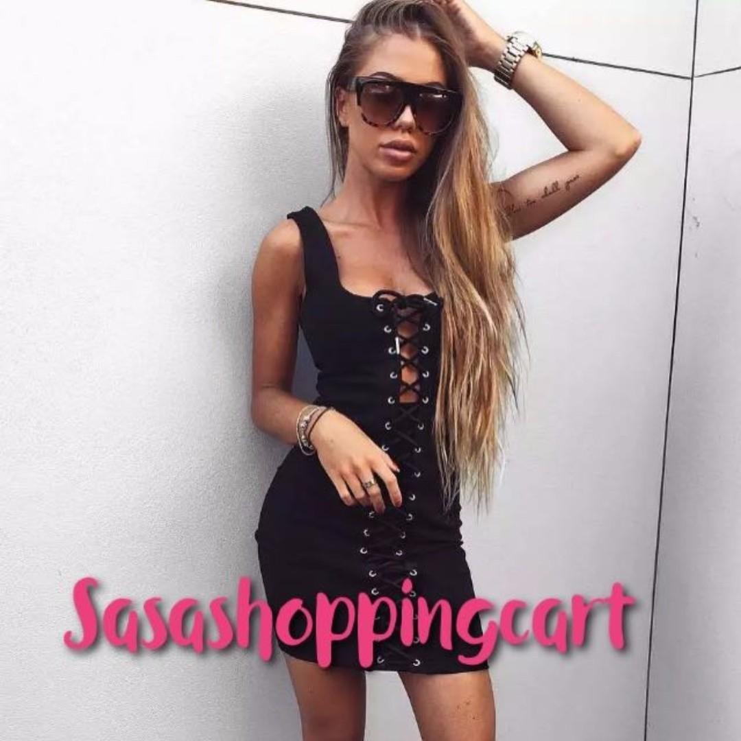 (Black) Evening skirt sexy package hip A skirt sleeveless vest dress tight dress