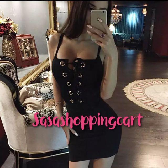 (Black) New hollow lace Slim package hip dress skirt nightclub dress skirt