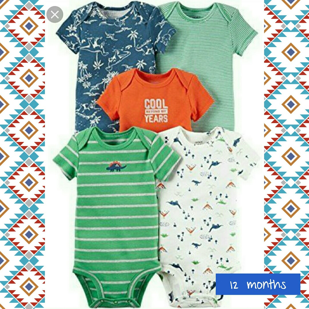 e709ad57bbc6 Bnib carters onesies   rompers - 12 months