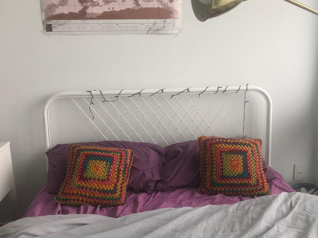 BRAND NEW white double bed/white bedframe/ full/double white bed