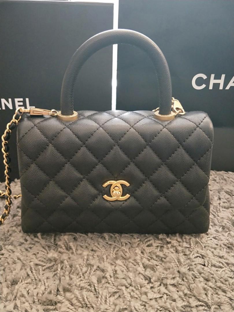 75ccd2a41d97d5 Chanel coco handle mini in black caviar #25, Women's Fashion, Bags ...