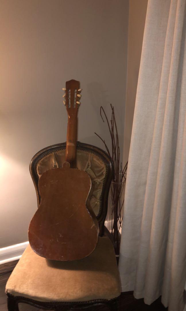 Classic, Vintage - Antique Tito Monroy Paracho Mich Guitar