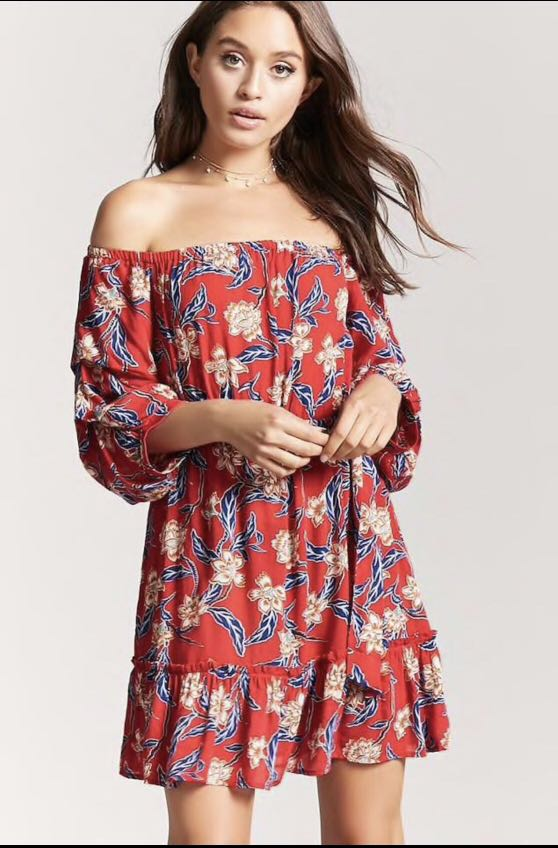 12b869511573 Clearance! Bn Forever 21 Off Shoulder Dress floral plus size ...