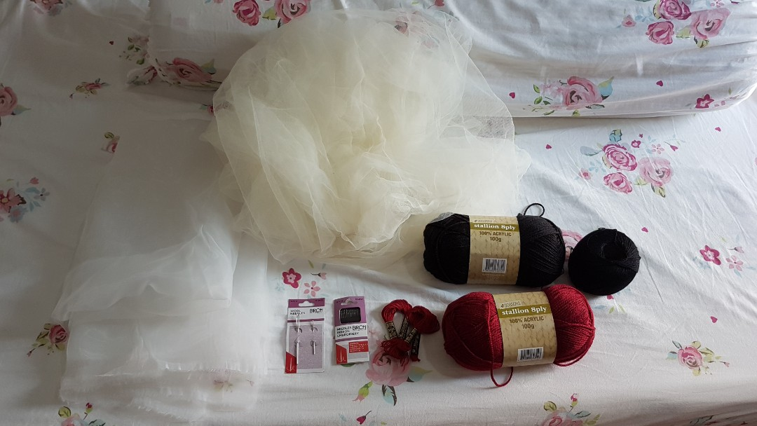 Craft Materials (Wool, Fabric, Needles, Embroidery Thread