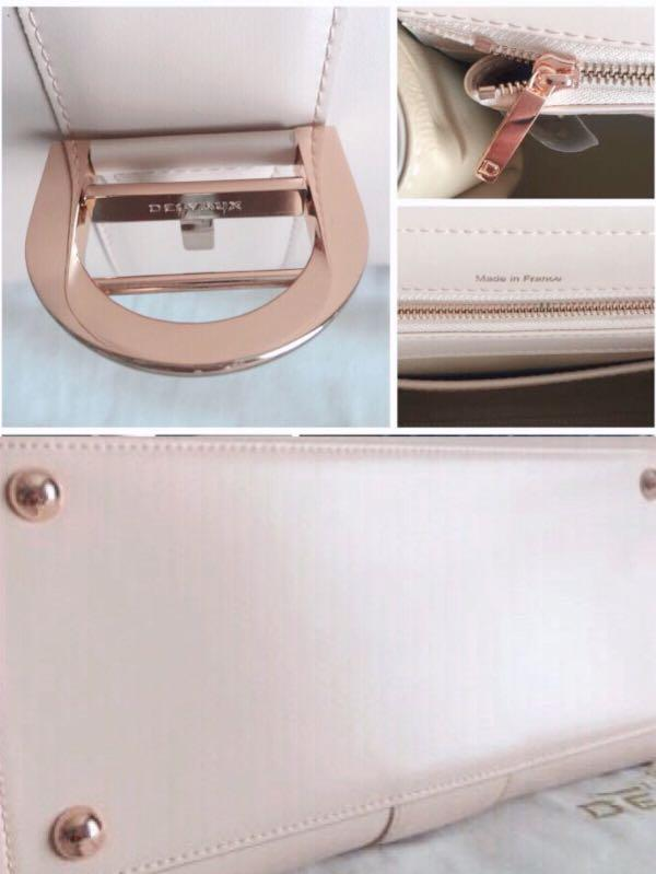 Delvaux Brilliant Medium Light Pink Box Leather Bag