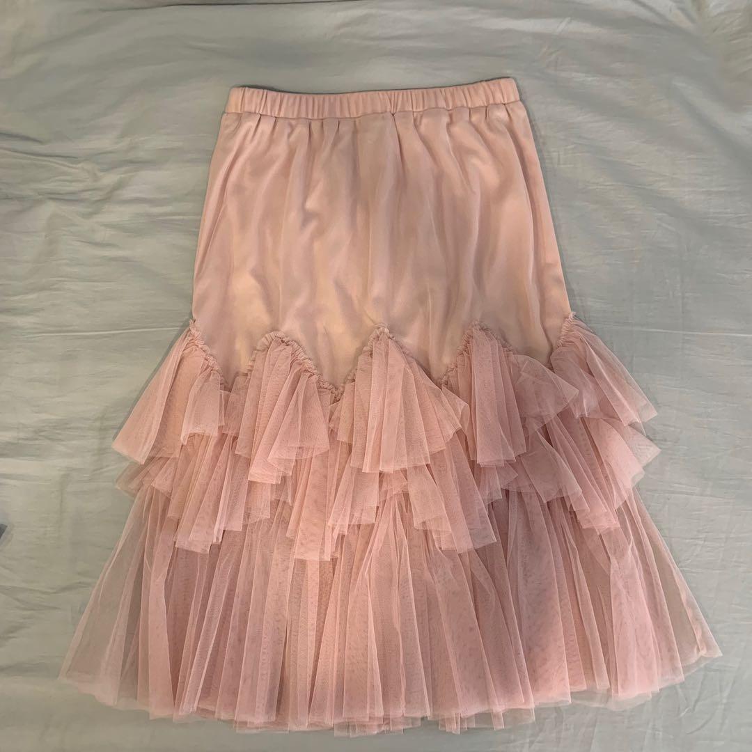 15299ff8c93 EFLA midi skirt in pink tulle (new)