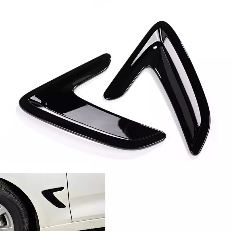 Glossy Black Racing Fender Vent Trims For Bmw 3 Series F30 Gt 2013