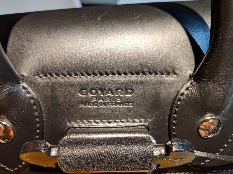Goyard - Goyardine black back pack
