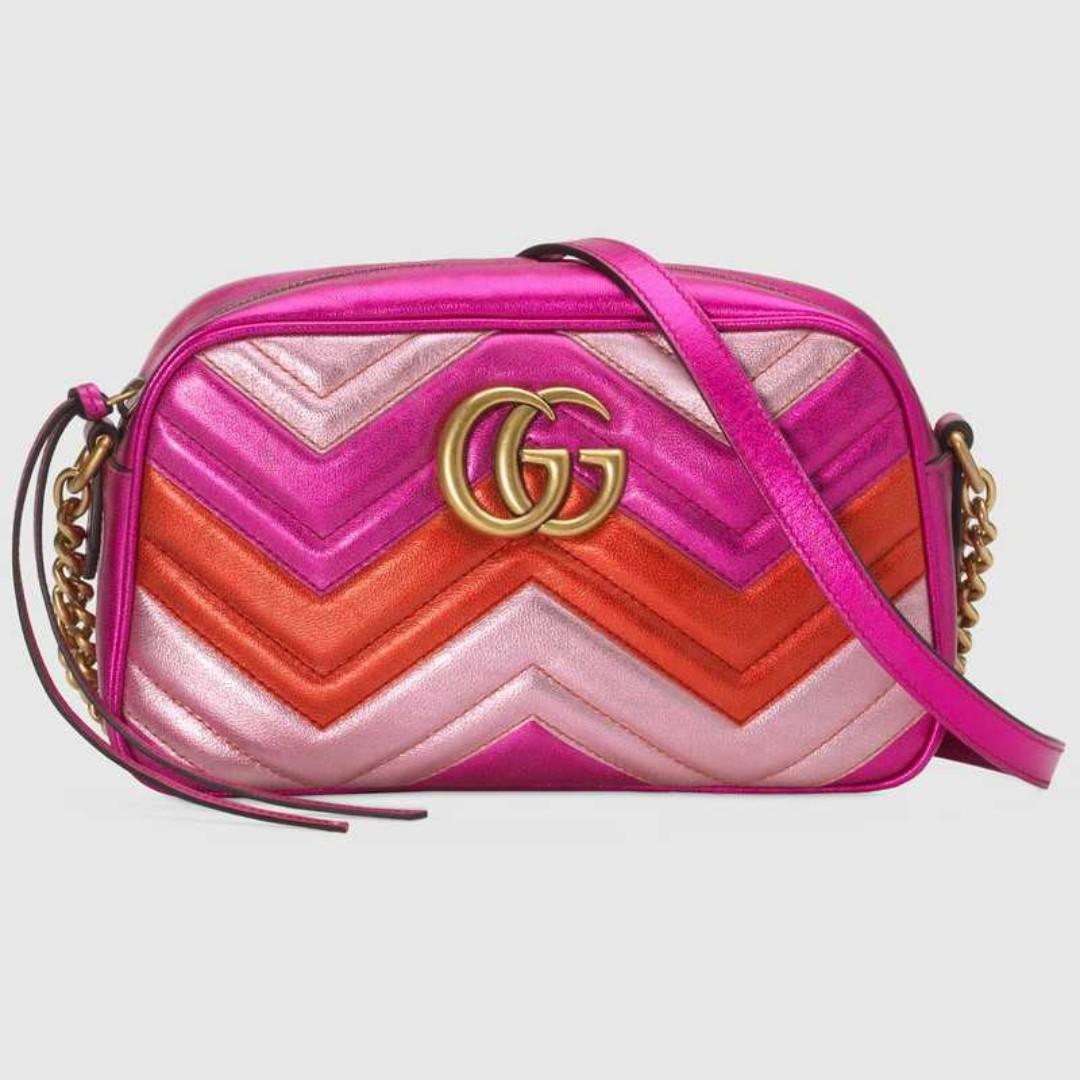 95afc0adec15 Gucci GG Marmont small matelassé shoulder bag fuchsia, Women's ...