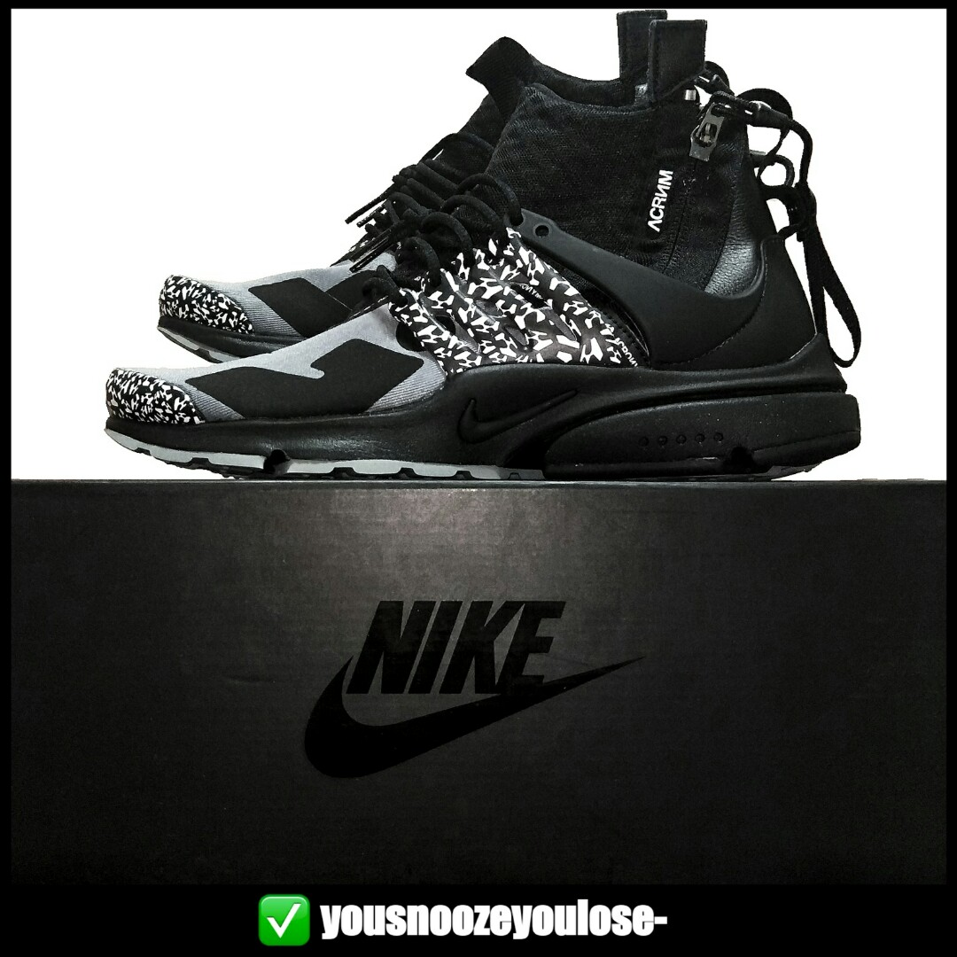 info for 2d838 5e00f 🌊INSTOCK🌊 NIKE X ACRONYM AIR PRESTO MID COOL GREY  CORE BLACK, Mens  Fashion, Footwear, Sneakers on Carousell