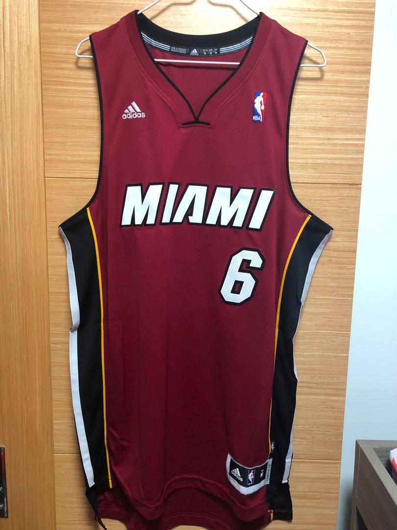 timeless design 1f77e 59784 LeBron James Miami Heat Adidas Swingman Jersey R30 #6 NBA