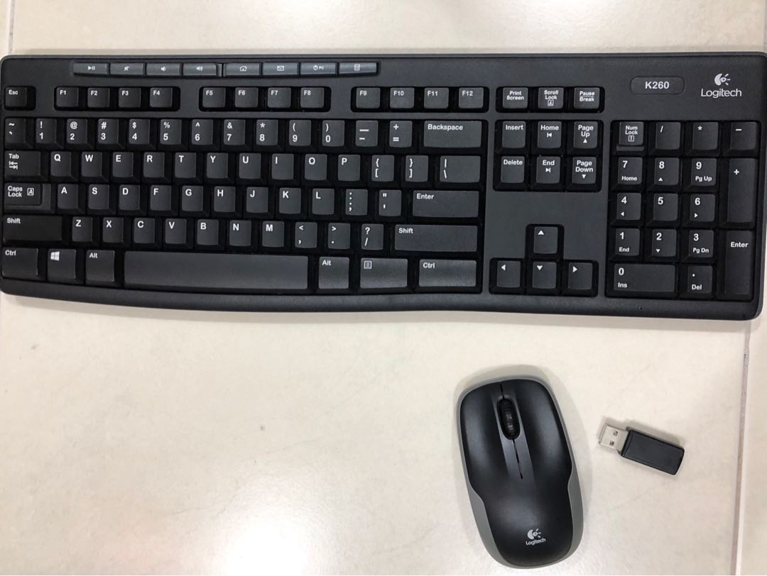 2902ab2696b Logitech wireless keyboard and mouse, Electronics, Computer Parts ...