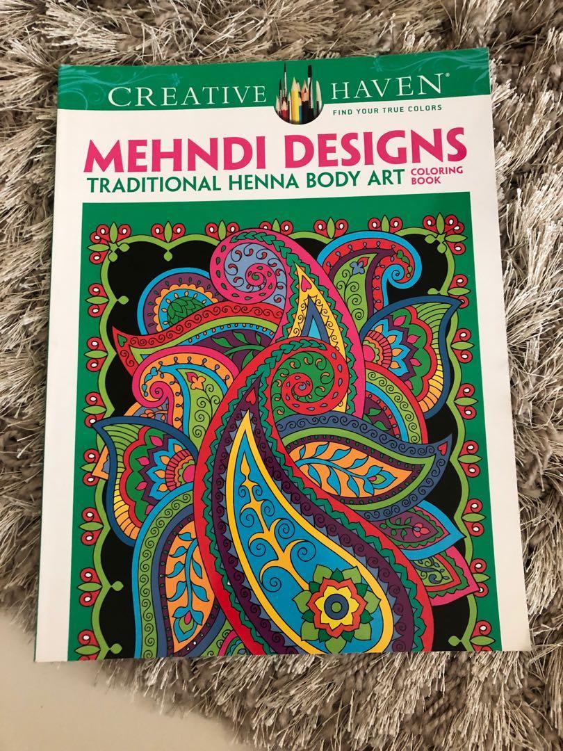 Mehndi Designs Henna Body Art Coloring Book On Carousell