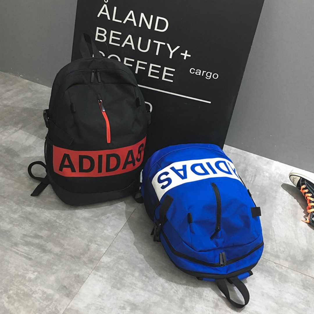 de2b81572b New CNY Sales Adidas bag Big Name - black New Arrival, Luxury, Bags &  Wallets, Backpacks on Carousell