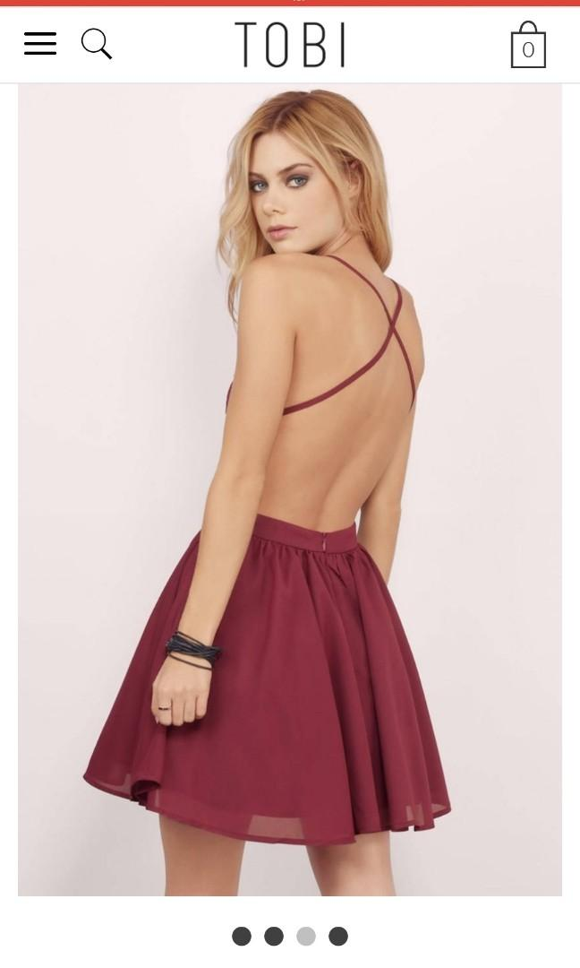 New TOBI Dress with open back