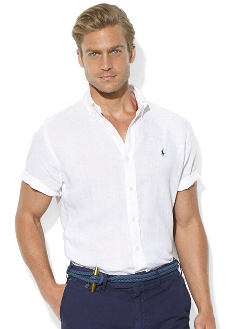 76524246 Polo Ralph Lauren Short Sleeved Linen Shirt, Men's Fashion, Clothes ...