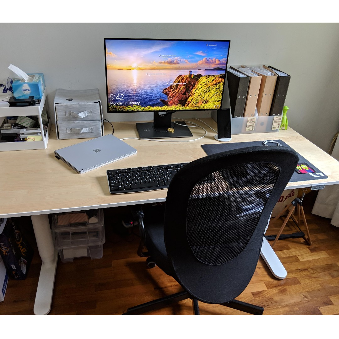 photo photo photo photo photo & Motorized Standing Office Desk and Computer Chair Furniture Tables ...