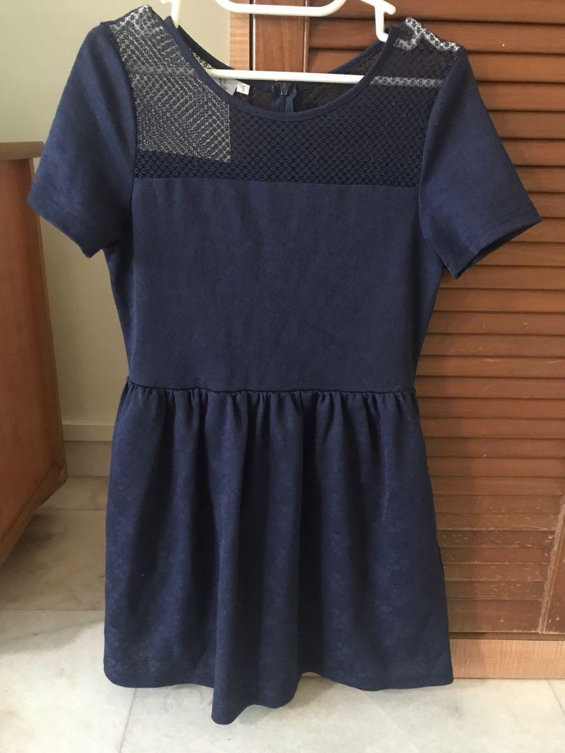 80e1f5e074a The stage walk navy blue lace dress