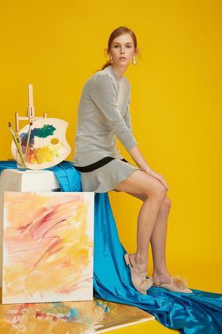UGG Lauren New Fashion Women Pom Pom Summer Slide Slippers Sandals Kid Suede, Wool