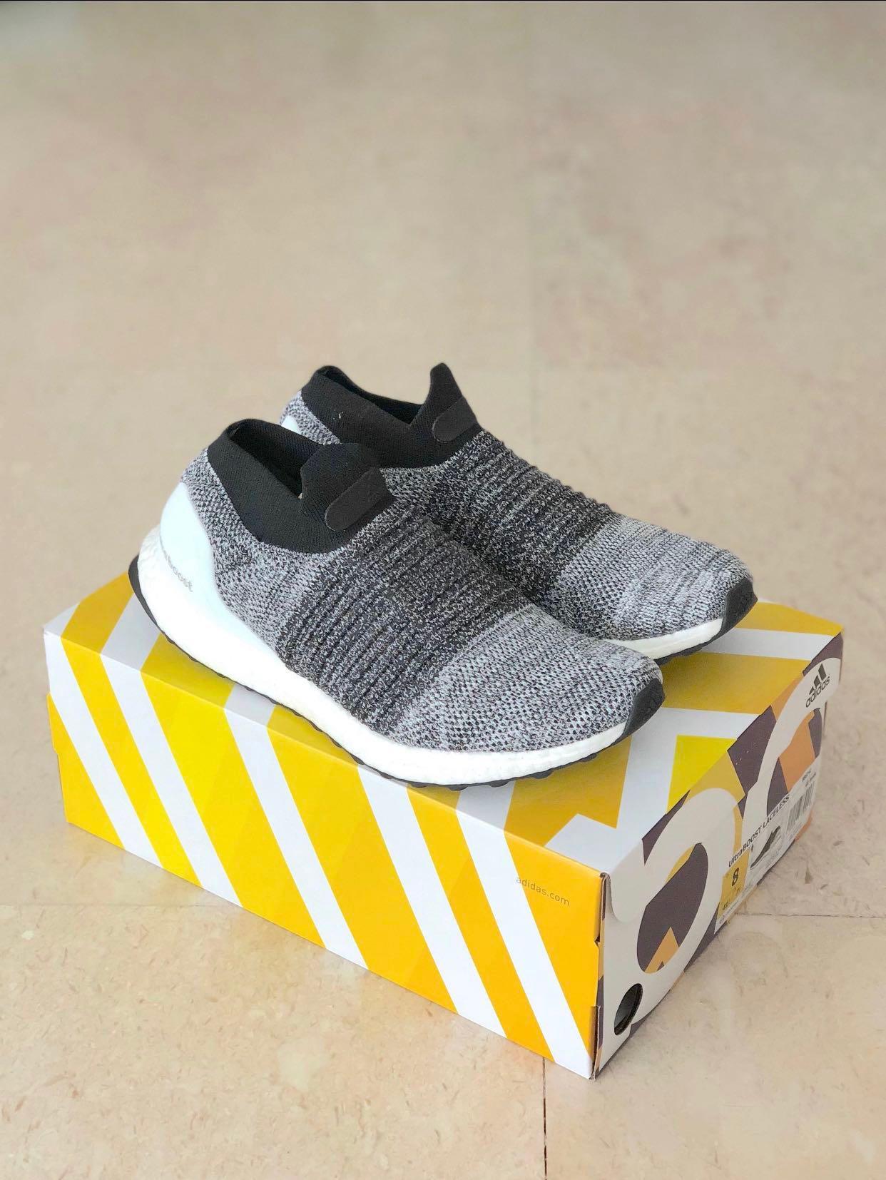 589d1ab9030f5 UK7.5 Adidas Ultraboost Laceless Oreo