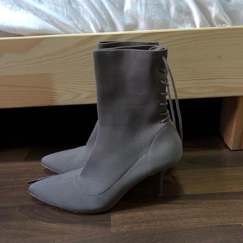 Zara Grey sock boots