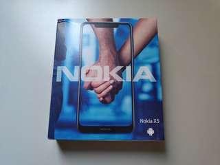 🚚 Nokia X5 (nokia 5.1 plus陸版)4g + 64g,cpu: P60,波羅地海藍色,2019p年01月到貨,盒子微壓倒,全新未拆,僅限一支。