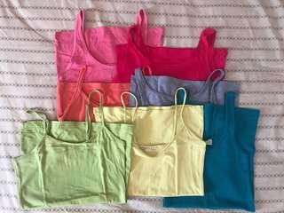 Lot of 7 tank tops