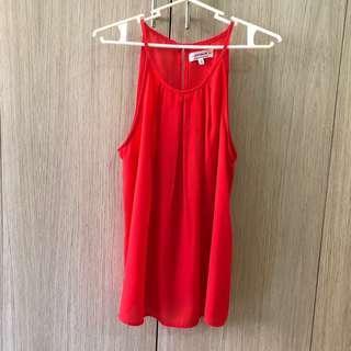 Cotton On Crimson Cami Red Tank Top