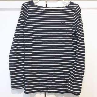 Navy Blue Striped Shirt