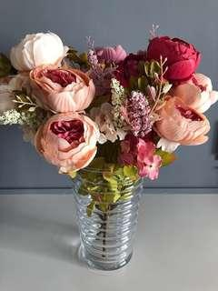 🚚 Artificial Autumn Peony Flowers