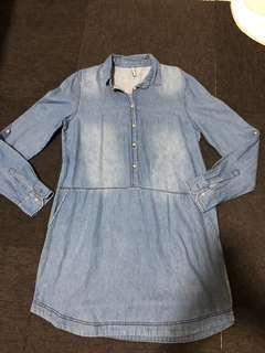 Stradivarius Maong Overall Dress