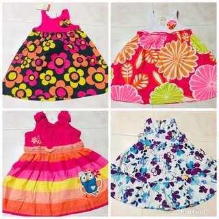 Brand new floral cotton frocks , for 1 -2 years kids
