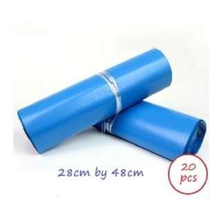 🚚 20 pcs - Blue Colour Plastic Poly Mailer (28cm x 42cm)