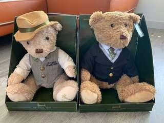 全新 Harrods Teddy Bear 3隻