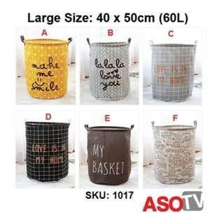 INC POST 💛 ASOTV Cotton Linen Laundry Storage Basket