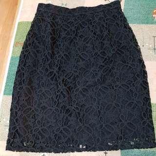 🚚 全新STEPHANE DOU黑色蕾絲裙