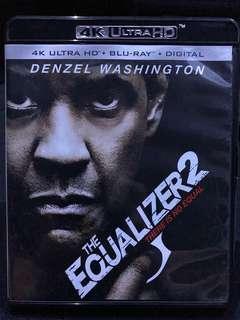 The Equalizer 2 4K Ultra HD Bluray 港版 淨4K碟連盒