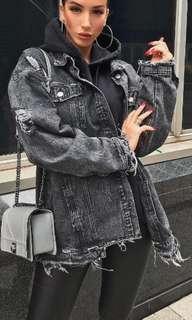 Missguided Distressed Denim Jacket