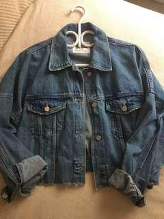 Zara Crop Authentic Denim Jacket