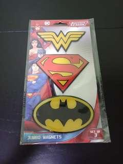 🚚 🆕DC Justice League Jumbo Magnets